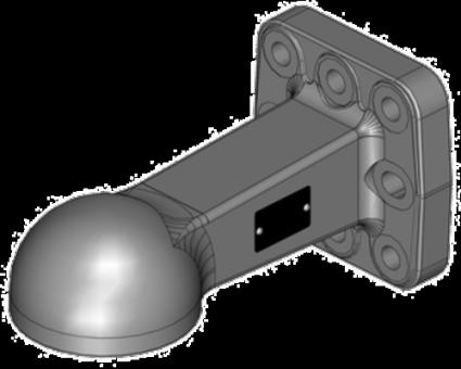 Zugöse mit Flansch Vega K80 3t 110x100 8-Loch